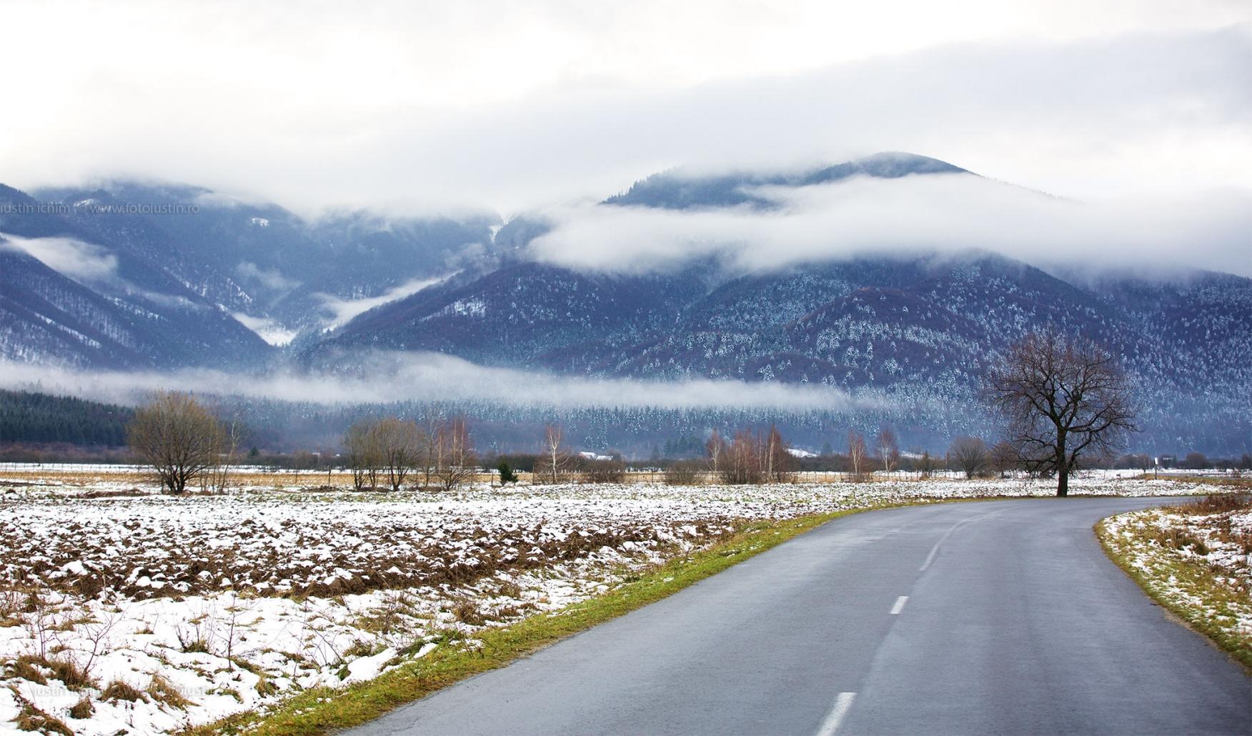 Peisaj de iarnă in Făgăraș