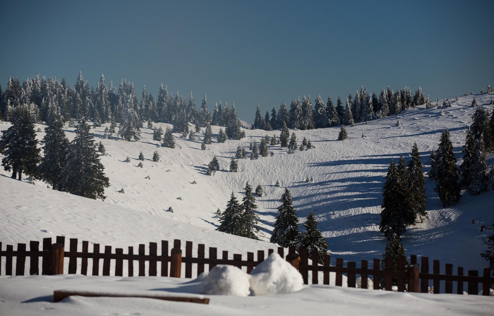 Peisaj de iarnă din România