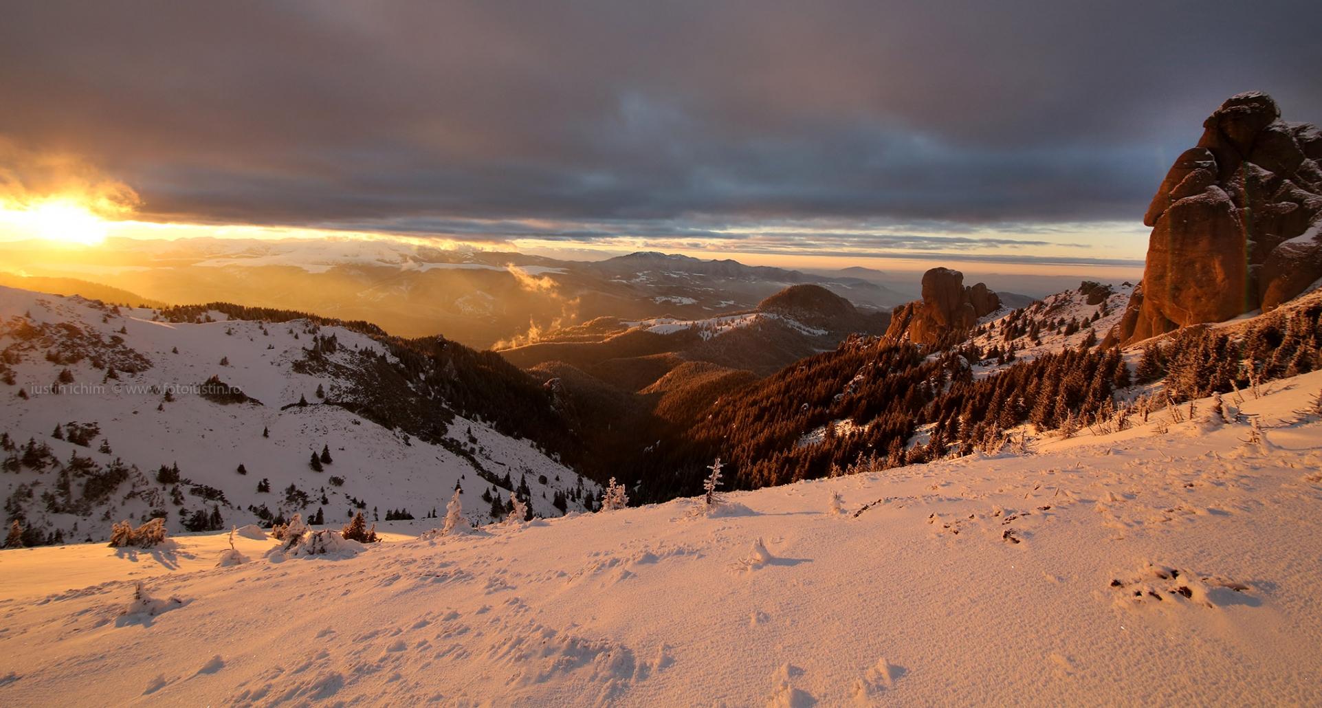 Peisaj de iarnă in Munții Ciucaș