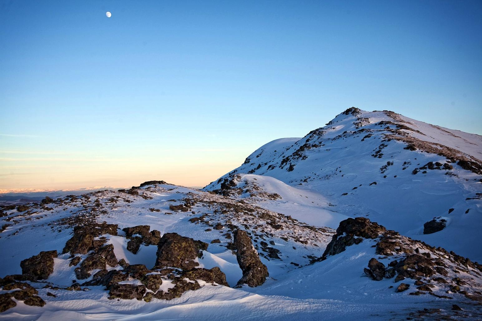 Peisaj montan, iarna in Parâng