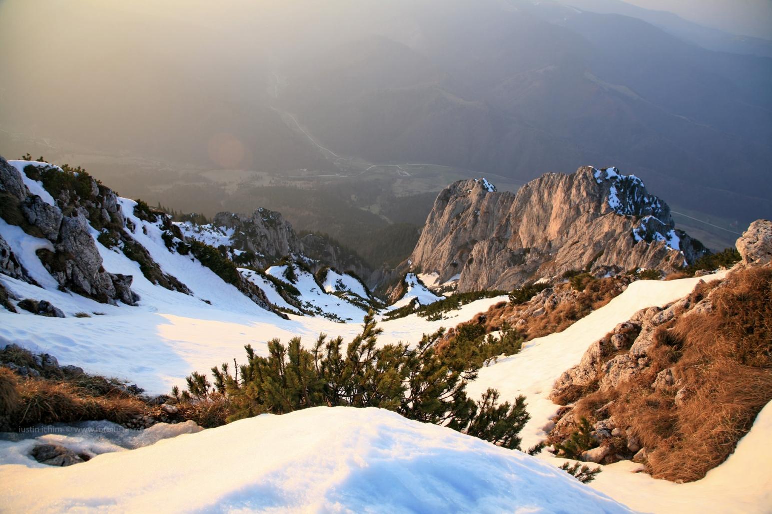 Peisaje, iarna in Piatra Craiului