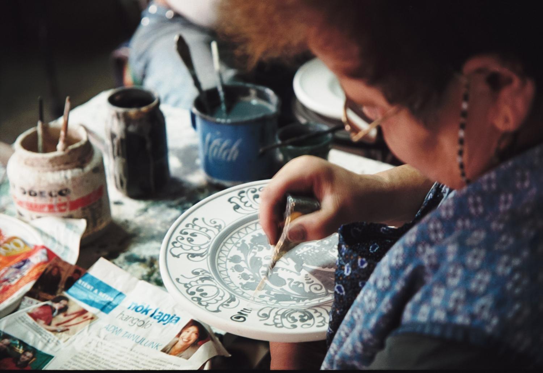 Pictura vase de lut, traditional